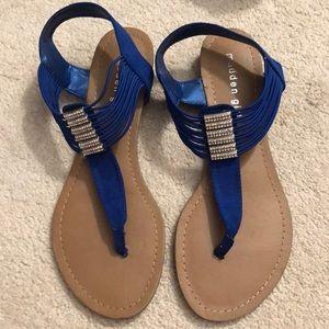 Blue Madden Girl sandals
